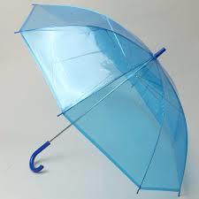 青いビニール傘